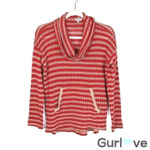Splendid Striped Cowl Neck Knitted Sweater Size XS